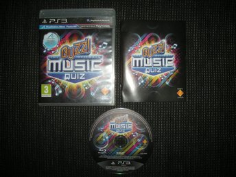 PS3 Buzz Musik Music Quiz på Svenska!