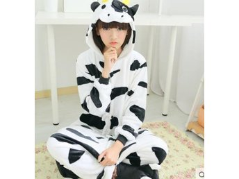 cow Hot Unisex Adult Pajamas Kigurumi Cosplay Costume Animal Storlek L