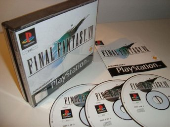 PSX - Final Fantasy VII (7) - komplett - 1:a utgåvan - NEAR MINT