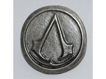 "Sköld/Emblem Assassins Creed Pin Brosch ""Metall Vintage/Grå"""