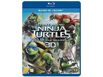 TEENAGE MUTANT NINJA TURTLES OUT OF THE SHADOWS. NY PÅ BLU-RAY 3D