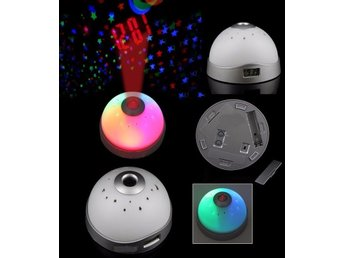 Väckarklocka Magic LED Color-Change Projection Projector Alarm Clock
