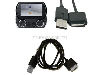PSP GO 2 i 1 USB Data Sync Laddningskabel Fri Frakt Ny