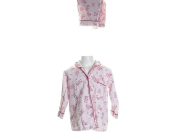 Girls, Pyjamas, Strl: 122, Rosa/Röd