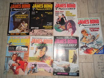 7 st JAMES BOND AGENT 007 NR 1,2,3,4,5,7,8 1984