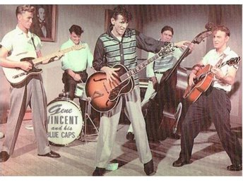 Vykort Gene Vincent & The Blue Caps
