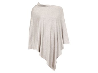 Ny finsstickad Poncho Cubus One Size
