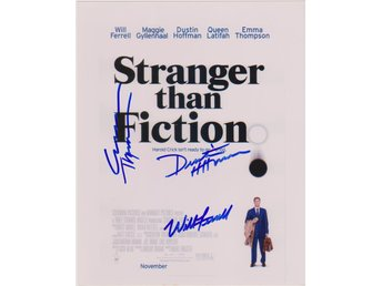 STRANGER THAN FICTION MINI POSTER 3 PRE-PRINT AUTOGRAF FOTO