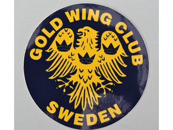 Klistermärke: Gold Wing Club Sweden