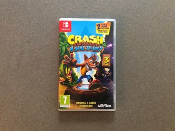 Crash Bandicoot N. Sane Trilogy (switch, nyskick, fri frakt