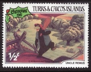Disney, Turks and Caicos, 1/2-cent Brer Bear