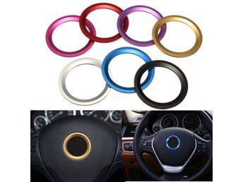 Car Steel Ring Wheel Center Decoration Ring Cover Fit for...