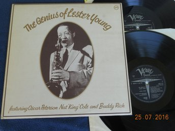 LESTER YOUNG - The Genius Of, 2LP Verve 2683 058 UK 70-tal
