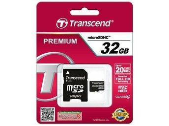 Transcend micro SDHC 32GB Class 10   FULL HD (PREMIUM)