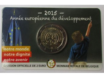 Belgien 2 euro 2015 European Year for Development [coincard]