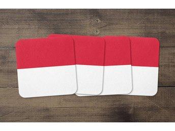 Monaco Flagga Coasters 4 Pack Underlägg Underlag - Kuala Lumpur - Monaco Flagga Coasters 4 Pack Underlägg Underlag - Kuala Lumpur