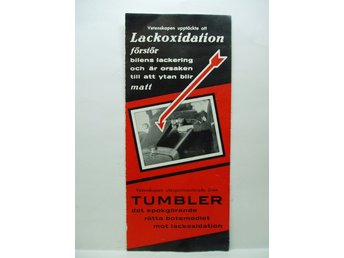 Ä.folder TUMBLER botemedlet mot lackoxidation 1947