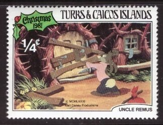 Disney, Turks and Caicos, 1/4-cent Brer Rabbit