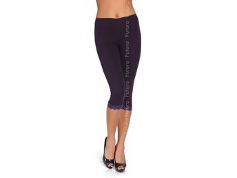 Cotton Leggings Various Cropped 3/4, With Lace Gym Pants