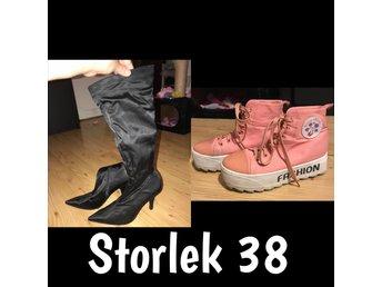 Skor stövlar klackskor sneakers strl 38.