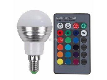 Kända LED-Lampa E14 RGB + Fjärrkontroll (274804184) ᐈ Fyndify på Tradera TR-73