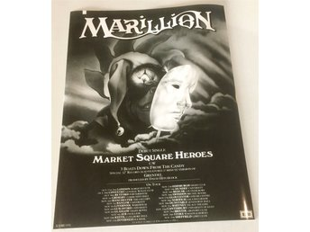 MARILLION MARKET SQUARE HEROES 1984 GLOSSY PHOTO POSTER