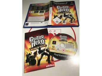 PlayStation 2 PS2 spel Guitar Hero World Tour