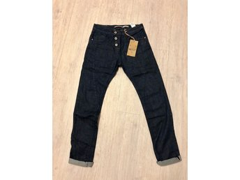 Nya 1399 kr Please jeans XS 26-27 mörkblå denim P78 Boyfriend baggy