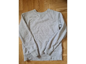 H&m långärmad gråmelange grå tröja strl. 146152