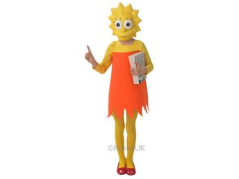 Lisa Simpson 110-116cl (5-6 år) The Simpsons Homer Bart Marge