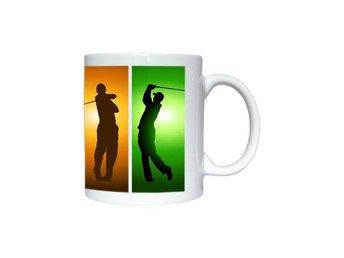 Golf spelare silhuetter mugg, snygg golf mugg till golfspelare - Karlskrona - Golf spelare silhuetter mugg, snygg golf mugg till golfspelare - Karlskrona