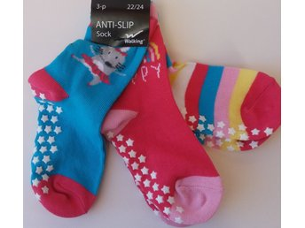 Antihalk  Halksockor  3/pack Stl. 22/24 (Happy)