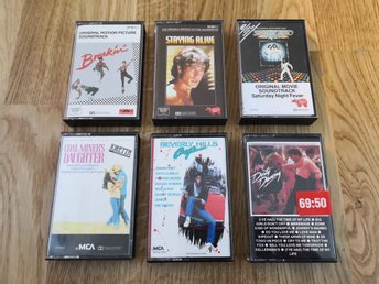 Kassettpaket: Soundtracks, filmmusik 70/80-tal