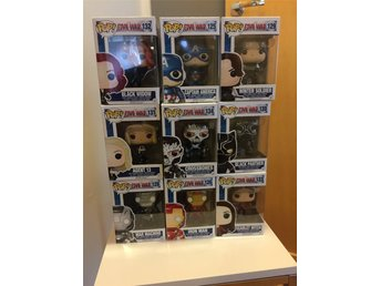 Funko Marvel Pop Captain America Civil War set 1 Black Widow Bobble head figurer