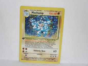 pokemonkort pokemon kort machamp damaged v1