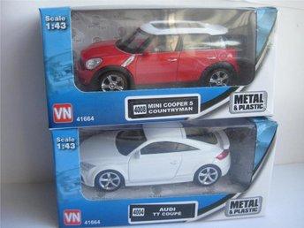 VN Leksaker Bilar Metall 2-Pack Mini Cooper & Audi 1:43 nr1 - Uddevalla - VN Leksaker Bilar Metall 2-Pack Mini Cooper & Audi 1:43 nr1 - Uddevalla
