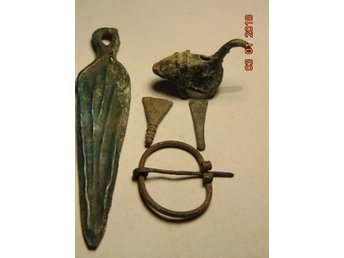 Medieval VIKING PENDANTS AMULET FROM BRONZE