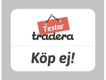 Tradera Testar Köp ej auction