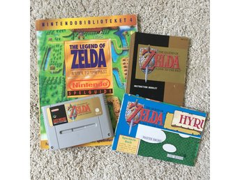 SNES - ZELDA A LINK TO THE PAST + Guide, karta och booklet