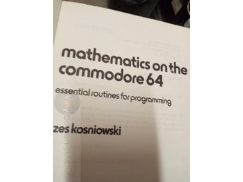 Mathematics on the commodore 64 essential routines for progVinylborsen-skivbutik