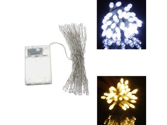 AA Battery Mini 40 LEDs Cool/Warm White Christmas String ...