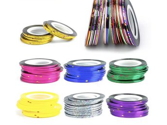 Striping tape , nageltejp , nageldekorationer - 5pack