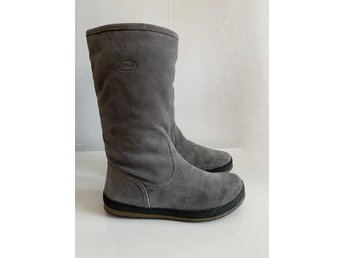 Gråa Scholl Skinnstövlar skinn stövlar mocka boots stl 40